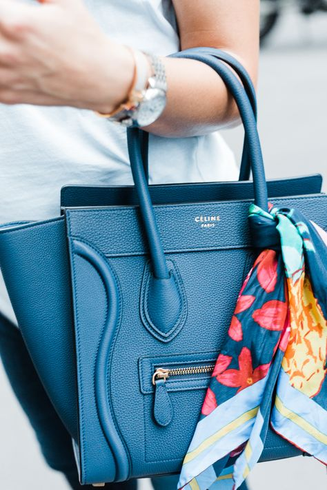 My dream bag, the Celine micro luggage tote in marine (navy) pebbled / grainy leather, a fashion post on sweetlysally