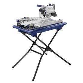 Kobalt 7 In Wet Tabletop Sliding Table Tile Saw With Stand Lowes Com Sliding Table Tile Saw Table Top