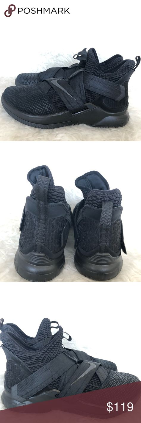 fe466e7b0cfd Lebron soldier XII triple black men s size 12.5 This is a pair of Lebron  soldiers triple