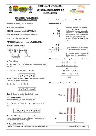 Pin Em Apostila Matematica