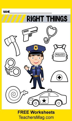 Community Helpers Preschool Worksheets Police Officer Have St Community Helpers Worksheets Community Helpers Preschool Activities Community Helpers Preschool