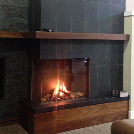 2 Sided Fireplace Modern Gas Fireplace Corner Style Fireplace