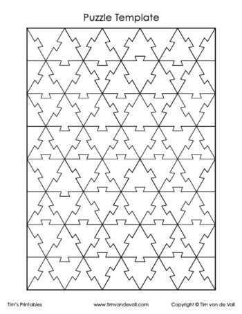 Equilateral Triangle Puzzle Template Puzzle Piece Template Puzzle Piece Crafts Puzzle Art Design