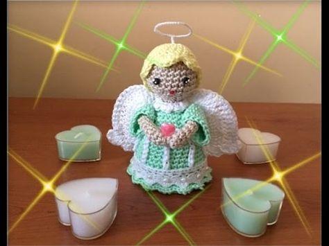 Tutorial Angelo All Uncinetto Bomboniera Comunione Angel Crochet Youtube Modelli Natalizi All Uncinetto Angeli All Uncinetto Uncinetto Amigurumi