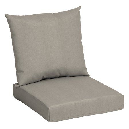 Mainstays Solid Tan 45 X 22 75 In Outdoor Deep Seat Cushion Set Walmart Com In 2021 Outdoor Deep Seat Cushions Deep Seat Cushions Deep Seating