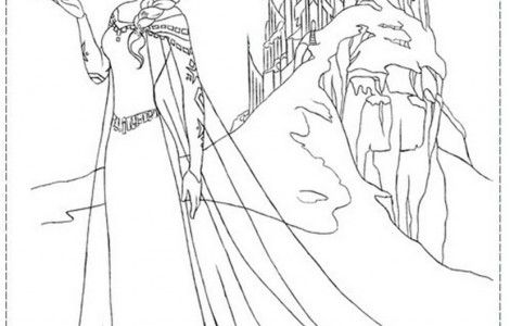 Elsa And Her Ice Castle Frozen Coloring Pages