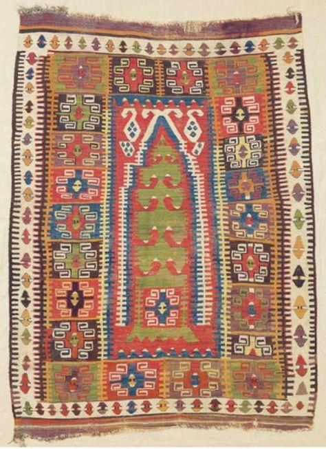 Sivas Prayer Kilim East Central Anatolia C 1850 Kilims Ve Halilar