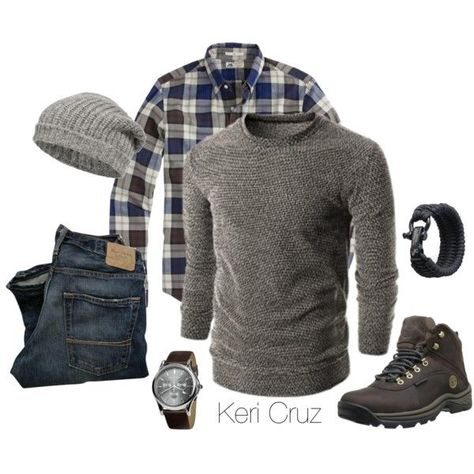 The Rugged Man- Winter Edition, created by keri-cruz on Polyvore http://www.thesterlingsilver.com/product/bulova-accutron-ii-mens-uhf-watch-with-gold-dial-analogue-display-and-brown-leather-strap-97b132/