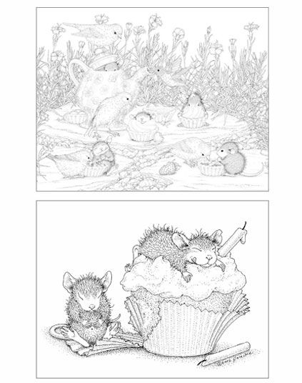 House Mouse Designs A House Mouse Colouring Book Uk Edition Volume 2 House Mouse Stamps Paper Embroidery Mouse Color