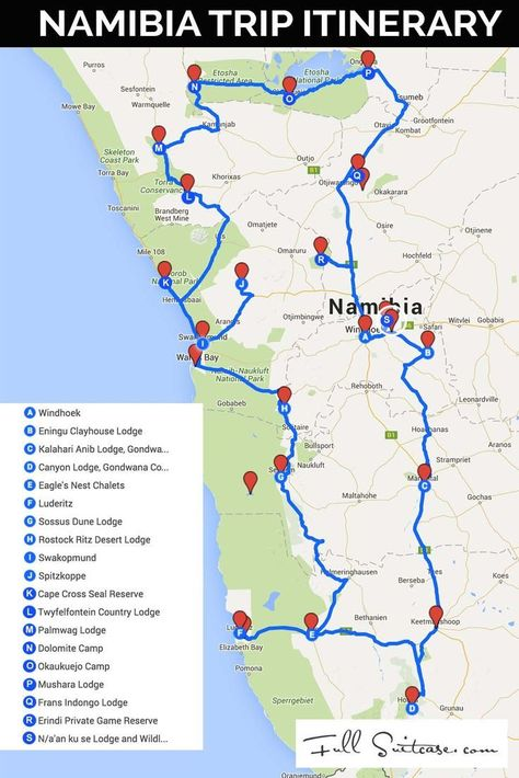 Ultimate Namibia Itinerary Most Complete Road Trip Map Road