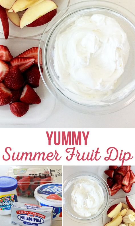 Yummy Summer Fruit Dip Marshmallow Cream, Cool Whip, Cream Cheese I wouldn't want any of you lovely readers to be deprived of this heavenly goodness! Here is the recipe for this Yummy Summer Fruit Dip! Marshmallow Creme, Marshmallow Fluff Fruit Dip, Fruit Fluff Dip, Dipped Marshmallows, Cool Whip Fruit Dip, Easy Fruit Dip, Fruit Dip Healthy, Healthy Dips, Dessert Dips