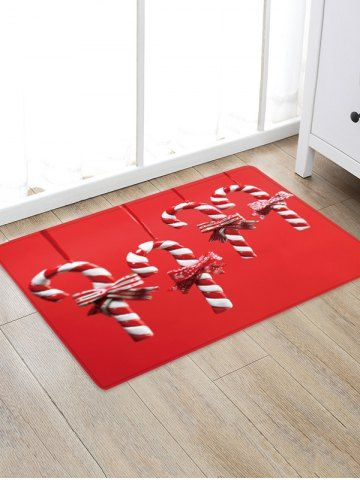 Christmas Carpet Runner.Christmas Candy Cane Pattern Water Absorption Floor Rug