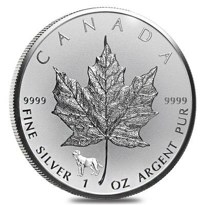 2018 1 Oz Silver Canadian Maple Leaf Lunar Dog Privy Coin Silver Coins Silver Maple Leaf Silver Bullion Coins