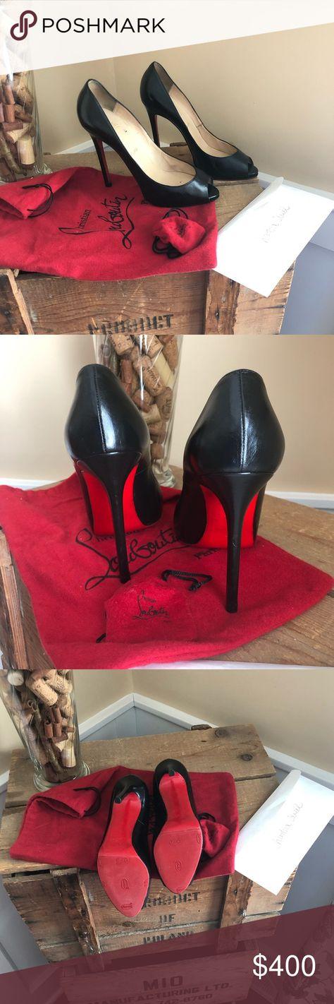645a6a64f90e Authentic Christian Louboutin pumps Sexy Black Peep Toe Pumps !! 38.5 ❤ 👠  US