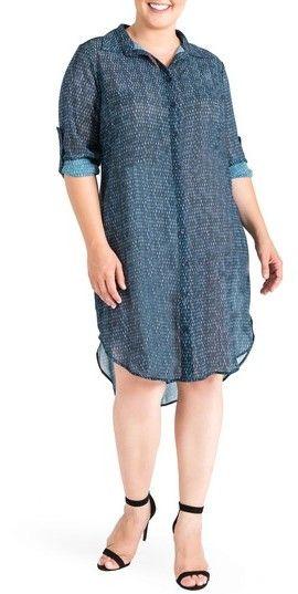 1021f2f6b0e Plus Size Women s Standards   Practices Millicent High low Shirtdress  plus  size  plussize
