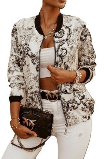 Taffi Sukienka Kolorowa Bombka Dluga Maxi 464850 9542820210 Oficjalne Archiwum Allegro Bomber Jacket Fashion Dressy Jackets Bomber Jacket Women