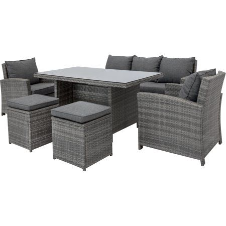 Patio Garden Dining Sofa Outdoor Living Furniture Sofa Set