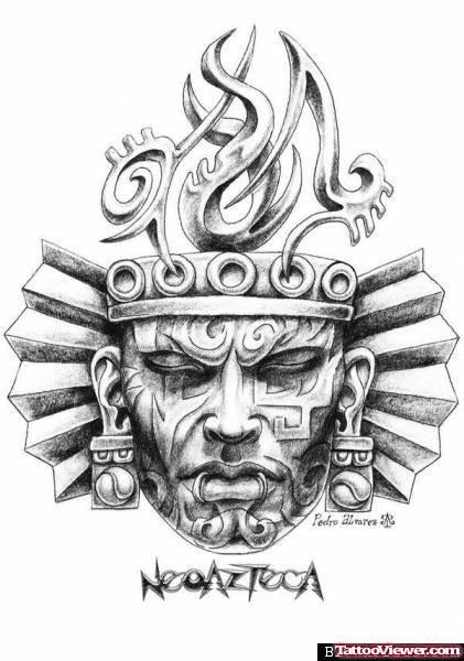 Aztec Head Tattoo Design Aztec Tattoo Aztec Tattoo Designs Aztec Warrior Tattoo