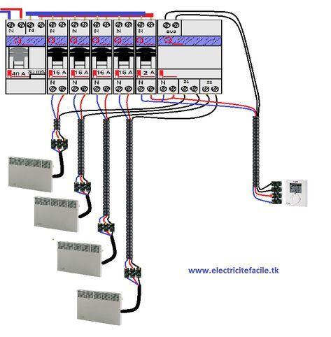 Schema Electrique D Un Gestionnaire D Energie Et Thermostat Schema Electrique Schema Electrique Maison Electrique
