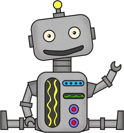 robot cartoon clip art vector clip art online royalty free rh pinterest com robot clipart robot clip art black and white