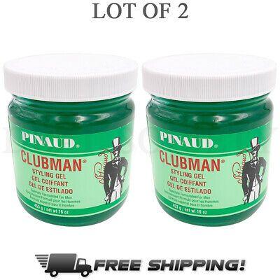 Pinaud Clubman Styling Gel For Men 16 Oz Jars Lot Of 2 Ebay Styling Gel Clubman Pinaud Gel