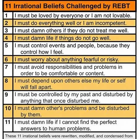 Irrational Beliefs Worksheet Therapy Worksheets