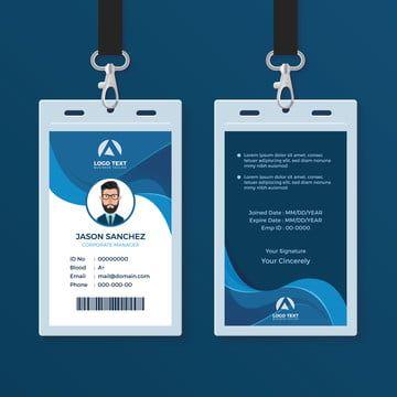 Id Card Identity Corporate Business Design Template Mockup Background Access Authentication Badge Employee Identification Lanyard Company Curve Wa Bejdzhi Dizajn