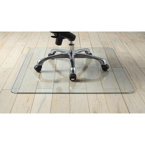 Lorell Tempered Glass Chair Mat 48 X 60 Clear Glass Chair Chair Mats Low Pile Carpet