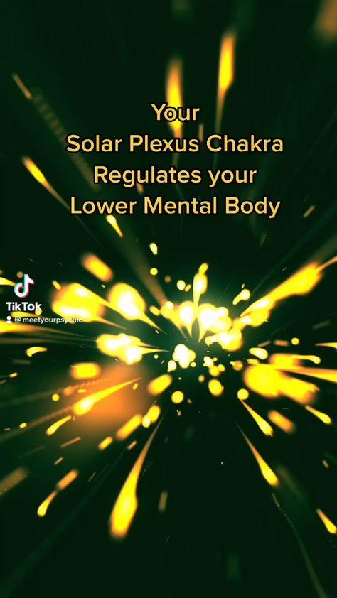 Your solar plexus regulates your lower mental body. #solarplexus #chakras #chakraopener #meetyourpsychic #psychic #onlinepsychic #tarot #hope #meditation #gratitude #positivity #mentalhealth #tarotcommunity #tarotmessage #wellbeing #energy