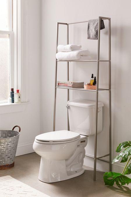 Devon Bath Leaning Storage Rack Toilet Storage Storage Shelves Bathroom Decor