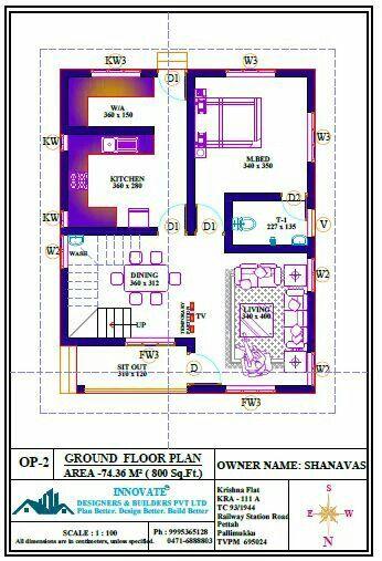 Pin By Sabera Shakir On 860 Sqft House Plan Ideas Ground Floor Plan How To Plan House Plans House floor plan names