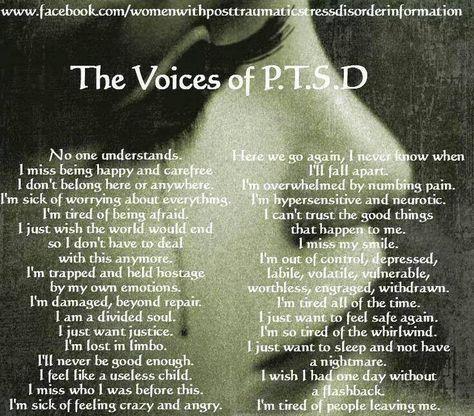 Ptsd awareness. Those last three especially