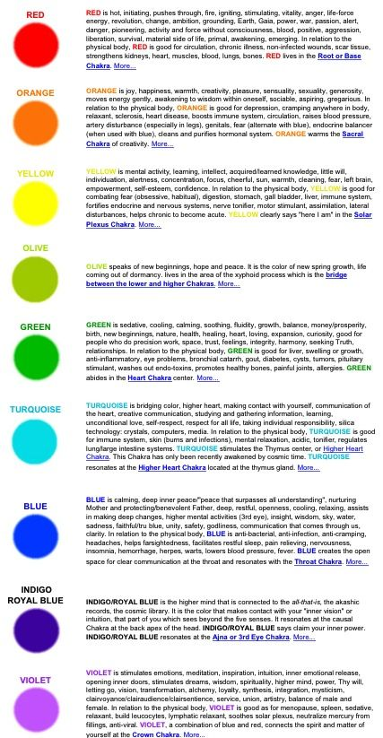 15 Best Images About COLOR THERAPY On Pinterest