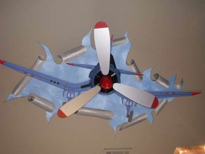 Airplane Ceiling Fan – Latest Accessories for Interior Decorating: Airplane Fan With Pictures Ceiling ~ gozetta.com Furniture Inspiration