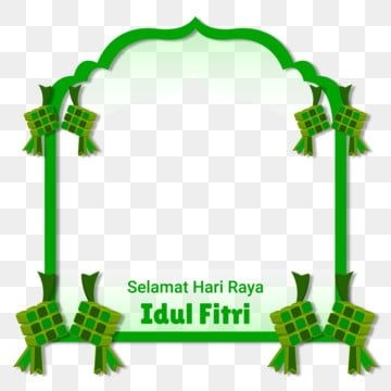 Islamic Frame Selamat Hari Raya Idul Fitri Typography With Ketupat Food Frame Border Islamic Slamic Frame Png And Vector With Transparent Background For Free Islamic Celebrations Selamat Hari Raya Flower Background