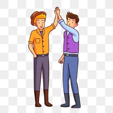 Two Men Giving High Five Illustration Illustration Celebration Valentines Png And Vector With Transparent Background For Free Download High Five Gym Outfit Men Illustration