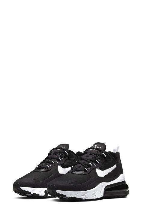 Women\u0027s Nike Air Max 270 React Sneaker, Size 6.5 M , Black