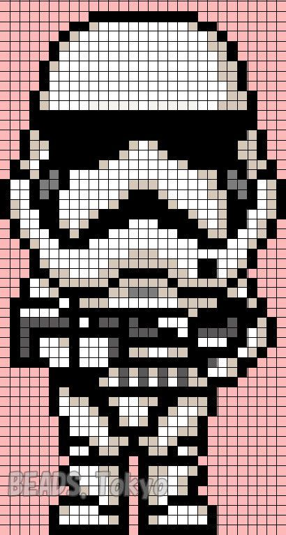 Stormtrooper Star Wars Vii Perler Bead Pattern Beads