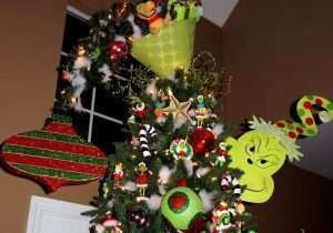 Whoville Decorations Beautiful Grinch Christmas Tree Topper Upside Down Lampshade With Grinch Christmas Decorations Grinch Christmas Tree Grinch Christmas