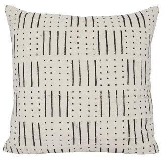 Abedi One Of A Kind White Mudcloth Pillow Furniture In