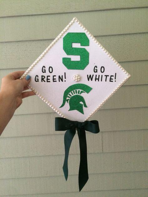 Michigan State high school grad cap!
