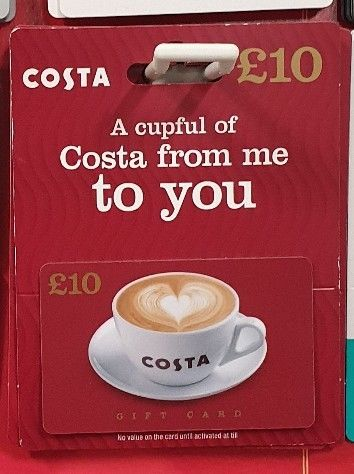 Details About 10 Costa Gift Card Voucher Wordlwide Buy