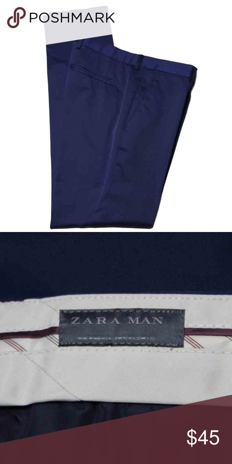 146c0d25 Men's Zara Dress Pants Navy Blue Size 33 X 33 Slim Men's new (with tags) Zara  dress pants Size men's Slim Fit 33 inches waist, 33 inches length 10.5  inches ...