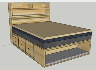 Pin On Diy Custom bed frames with storage
