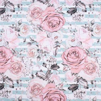 Baumwolljersey Stoff Digitaldruck Rosen bedruckt Jersey Bekleidung Meterware