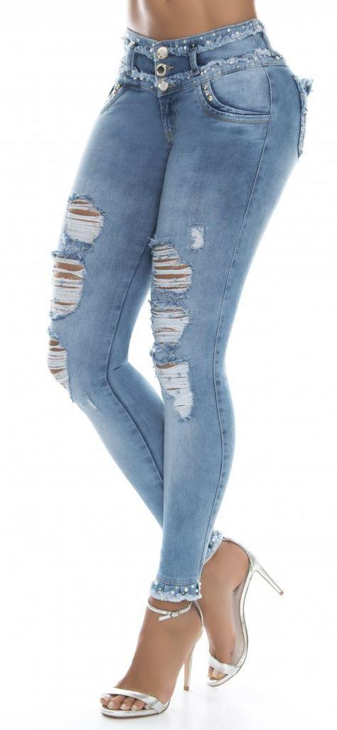 Jeans Levanta Cola Jeans De Moda Ropa De Moda Mujer Pantalones Jeans De Moda