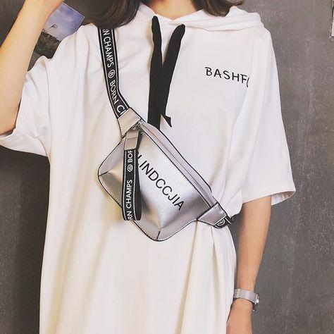 Silver Fanny Pack Women's Fashion Belt Bag #shoulderbag #fashionaccessories #crossbody #instafashon #fashiongram #instastyle #stylegram #wickerbag #fashionista #fashionblogger #shop #shopping #bolso #bolsos #itbag #musthave #trendy#trendybags#hottrend