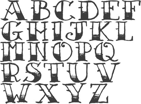 How To Draw The Alphabet In Cool Letters Google Search