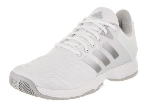 5a07b55b4dee2e Adidas Women s Barricade Court Ftwwht Msilve Gretwo Tennis Shoe 9 Women US