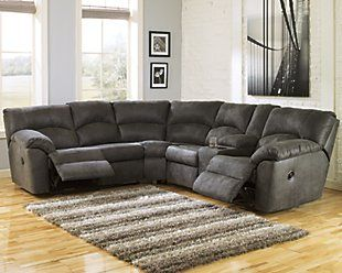 Tambo 2 Piece Reclining Sectional Ashley Furniture Homestore Sofas For Small Spaces Sectional Sofa Sectional Sofa With Recliner